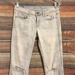 American Eagle Outfitters Jeans - American eagle distressed acid wash skinny jeans